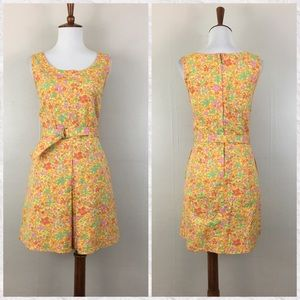 Vintage J. Crew Sleeveless Floral Mod Mini Dress